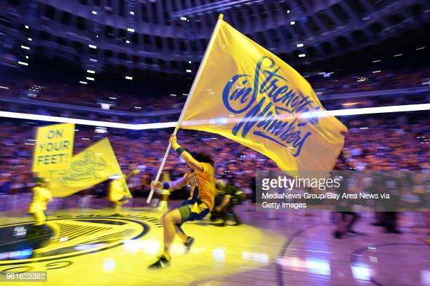 OAKLAND CA MAY 20 Members of the Hoop Troop run onto the court before Game 3 of the NBA Western Conference finals at Oracle Arena in Oakland Calif on...