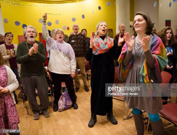 Members of the HopeGateWay church in Portland sing during Sundays service on March 3 2019 The Methodist church voted to maintain a ban on same sex...