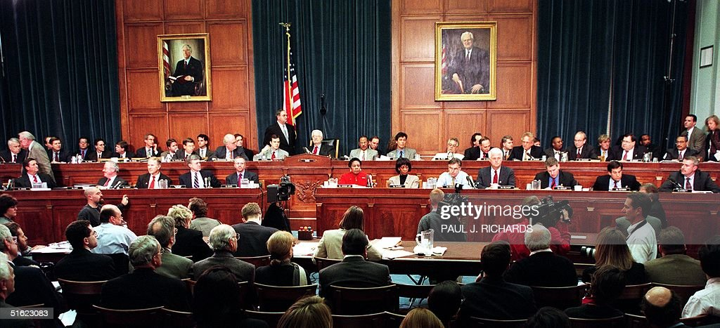 Members of the House Judiciary Committee discuss a : News Photo