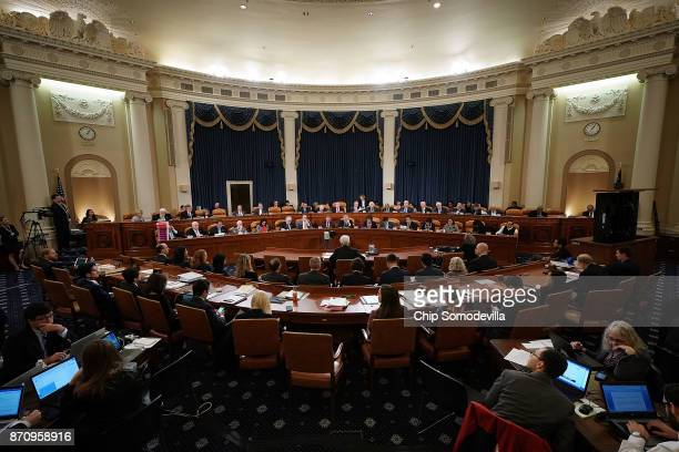 Members of the House Ways and Means Committee hold the first markup of the proposed GOP tax reform legislation in the Longworth House Office Building...