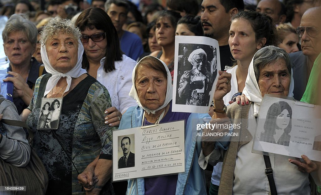 ARGENTINA-HUMAN RIGTHS-COUP-ANNIVERSARY-MARCH : News Photo