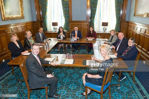11 members of The Independent groups first meeting at 1 George Street Westminster London on February 25 2019 in London England The Independent Group...