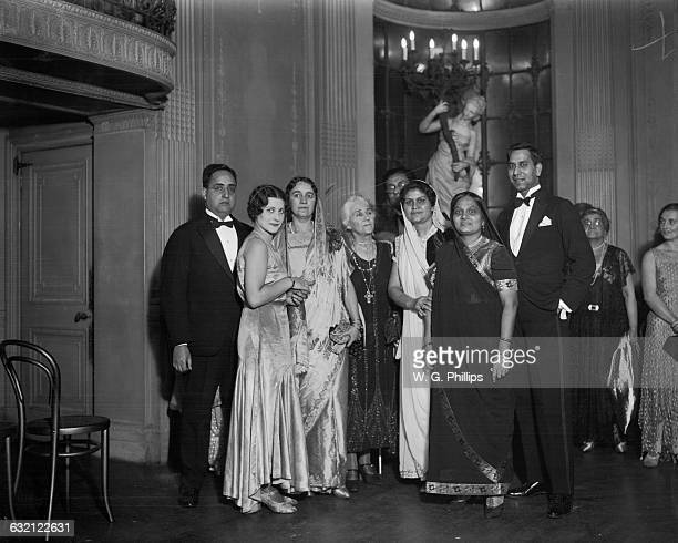 Members of the Indian Circle at a reception for the Ladies of the delegation to the Round Table held at the Lyceum Club Piccadilly London 27th...