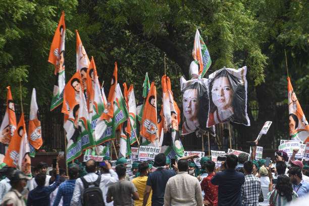 IND: Youth Congress Protests Against BJP Leader Meenakshi Lekhi's Remark On Farmers
