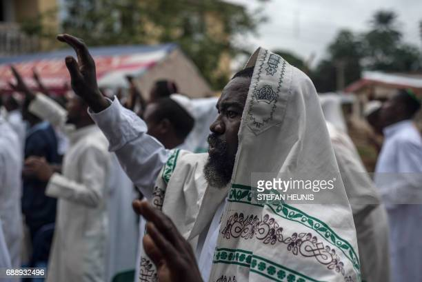 Members of the Indigenous People of Biafra militants and of the Yahveh Yashua Synagogue celebrates Shabbat outside the house of the movements leader...