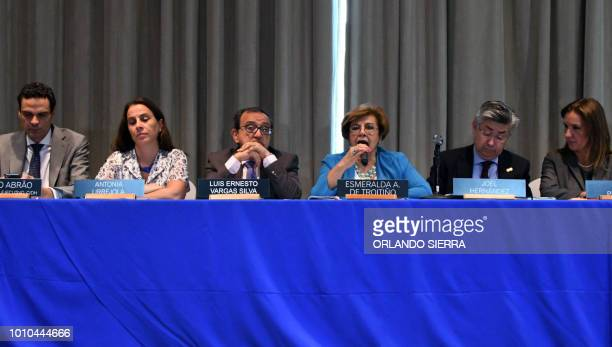 Members of the Inter American Commission on Human Rights Paulo Abrao Antonia Urrejola Luis Ernesto Vargas Silva Esmeralda Arosamene de Troitino Joel...