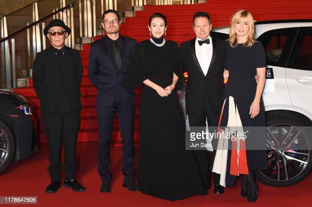 Members of the International Competition Jury Ryuichi Hiroki, Michael Noer, Zhang Ziyi, Bill Gerber and Julie Gayet arrive at the opening ceremony of...