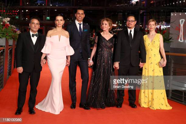 Members of the International Jury Sebastián Lelio Juliette Binoche Rajendra Roy Trudie Styler Justin Chang and Sandra Hueller arrive for the closing...
