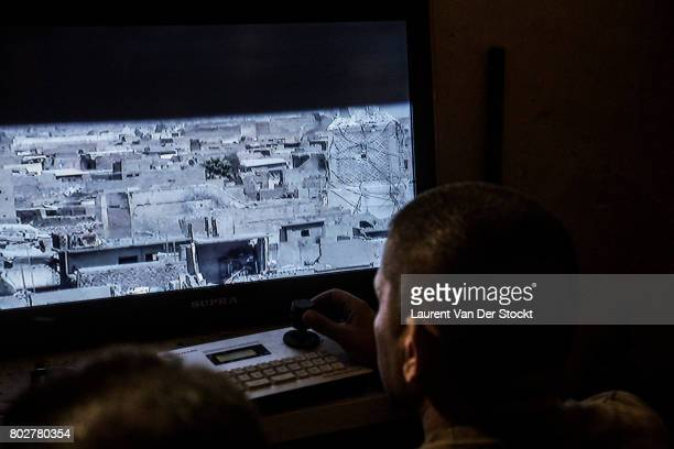 Members of the Iraqi special forces are observing the AlNuri mosque complex before attempting to retake it from the Islamic State The Iraqi military...