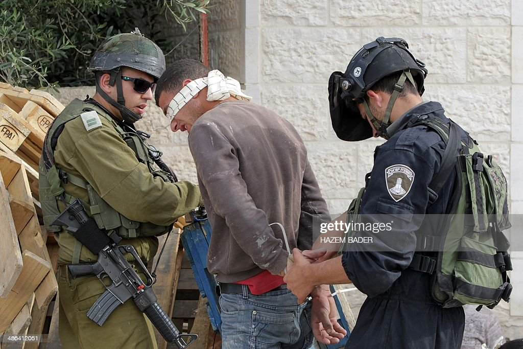 ISRAEL-PALESTINIAN-CONFLICT-SHOOTING-ARRESTS : News Photo