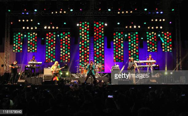 Members of the Jamaican reggae fusion band Third World Maurice Smooth Lion Gregory Stephen Cat Coore AJ Brown Richard Bassie Daley and Norris Webb...