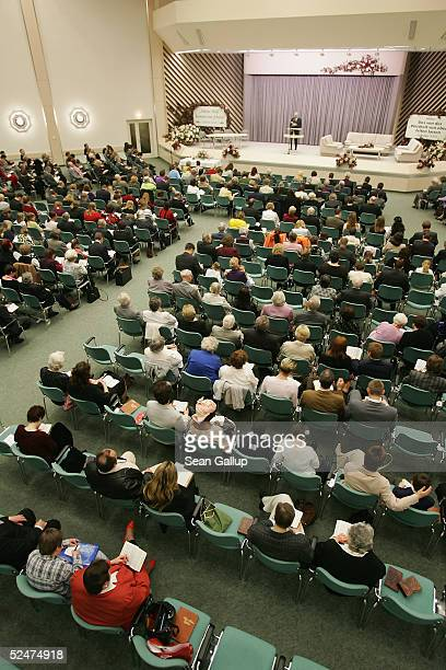 Members of the Jehova's Witnesses Church gather for a religious service March 24 2005 in Hennigsdorf Germany just outside of Berlin A Berlin curt...