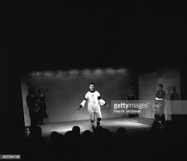 Members of the Judson Dance Theater perform James Waring's 'Extravaganza' At Living Theater New York New York March 2 1959