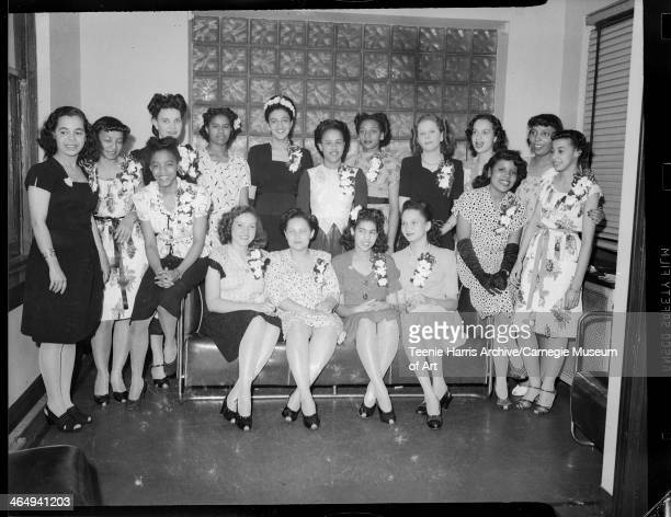 Members of the Junior Tuberculosis League front row from left Rosemary Robinson Lois Schrader Susan Fowler Charlotte Primas Florence Holmes Emilene...