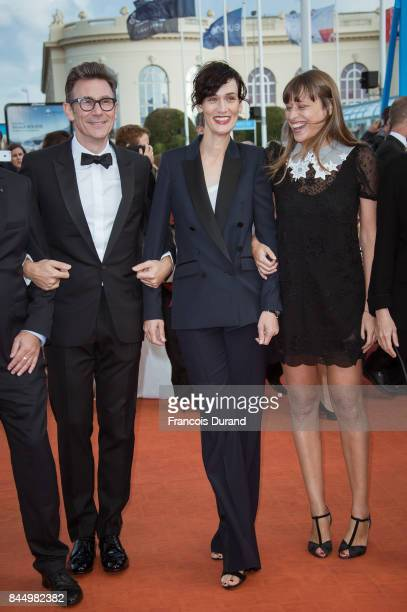 Members of the jury Alice Winocour Michel Hazanavicius and Clotilde Hesme arrive at the closing ceremony of the 43rd Deauville American Film Festival...
