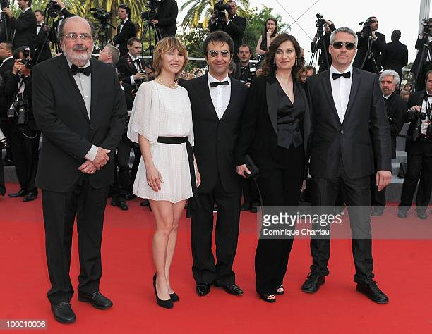 Members of the jury Carlos Diegues Dinara Droukarova President of the Jury Atom Egoyan Emmanuelle Devos and Marc Recha attend the premiere of...