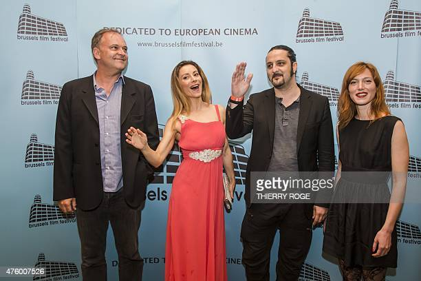 Members of the jury Christian Carion Antonella Salvucci Olivier Masset Depasse and Erika Sainte pose during a photo call at the opening of the 13th...