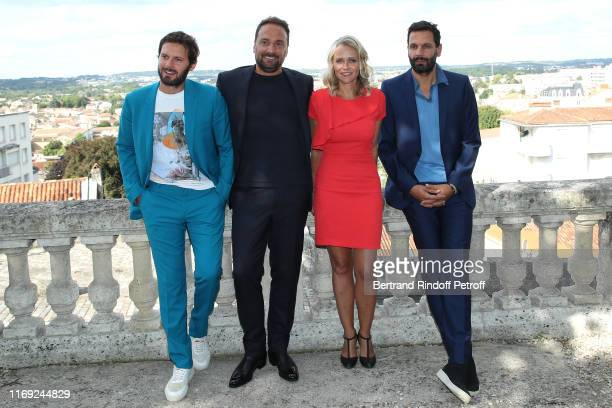 Members of the Jury Hugo Becker LouisJulien Petit President of the Student Jury Claire Borotra and Mehdi Nebbou attend the 12th Angouleme...