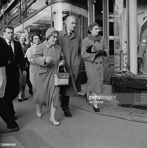 Members of the jury leave the Old Bailey after attending the obscenity trial of D H Lawrence's book 'Lady Chatterley's Lover' 2nd November 1960