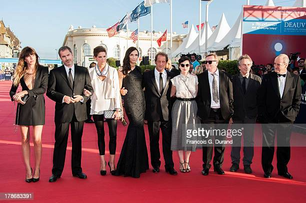 Members of the jury Lou Doillon Xavier Giannoli Helene Fillieres Famke Janssen Vincent Lindon Rebecca Zlotowski Jean Echenoz Bruno Nuytten and Pierre...