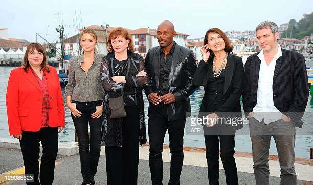 Members of the jury of SaintJeandeLuz's young directors film festival French actress Myriam Boyer Belgian actress Virginie Efira French actress...