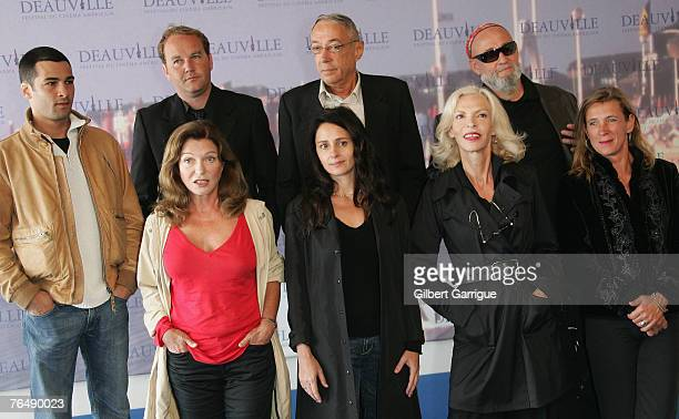 Members of the Jury pose France's actor Nicolas Cazale Directors Xavier Beauvois and Andre Techine President of the Jury and Musician Charlelie...