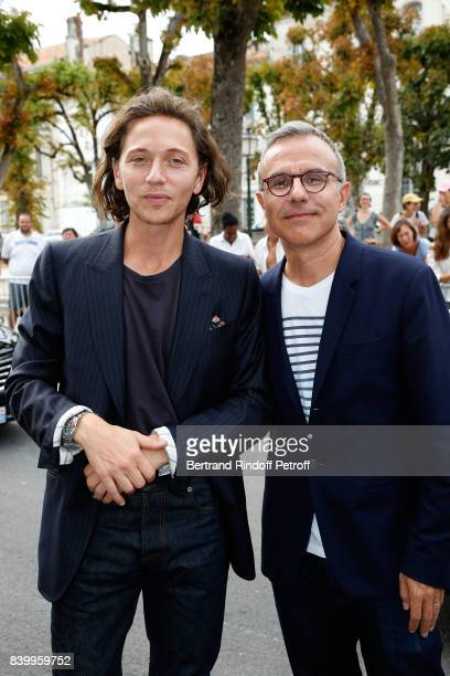 Members of the Jury Raphael and Philippe Besson attend the 10th Angouleme FrenchSpeaking Film Festival Closing Ceremony on August 27 2017 in...