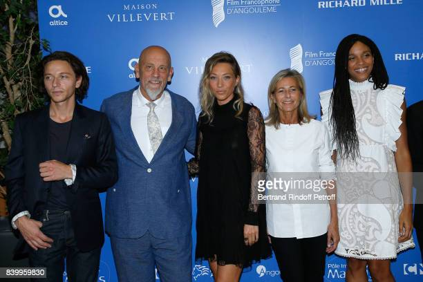 Members of the Jury Raphael President of the Jury John Malkovich Laura Smet Claire Chazal and Stefi Celma attend the 10th Angouleme FrenchSpeaking...