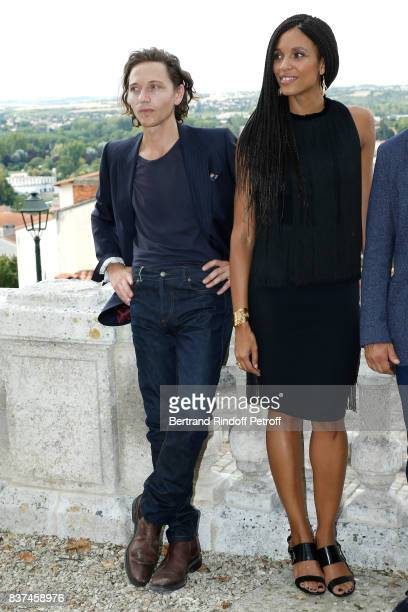 Members of the Jury singer Raphael and actress Stefi Celma attend the 10th Angouleme FrenchSpeaking Film Festival Jury Photo Call on August 22 2017...