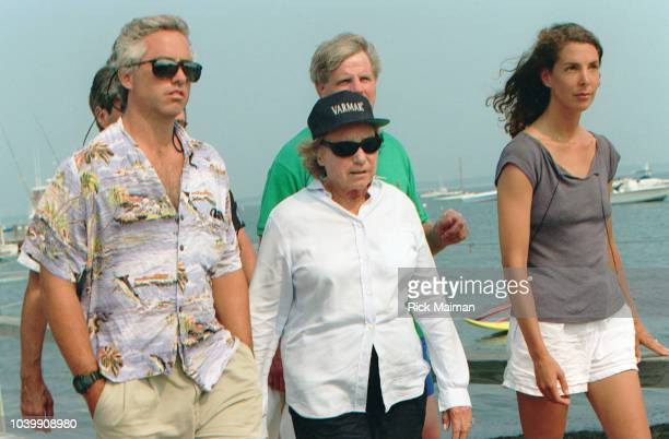 Members of the Kennedy family including Ethel Skakel Kennedy gather in Hyannis Port Massachusetts to await news after the disappearance of John F...