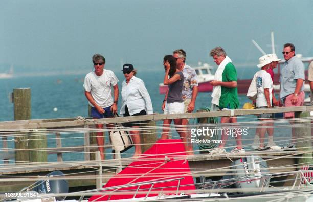 Members of the Kennedy family including Ethel Skakel Kennedy Max Kennedy with his wife Victoria and Joseph Kennedy II gather in Hyannis Port...