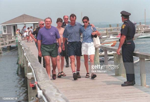 Members of the Kennedy family including Robert F Kennedy Jr and his wife Mary Richardson Kennedy gather in Hyannis Port Massachusetts to await news...