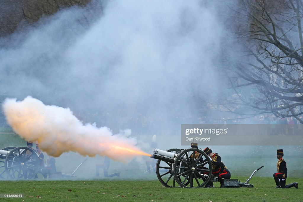 66th Anniversary Of The Queen's Accession Marked With 41 Gun Salute