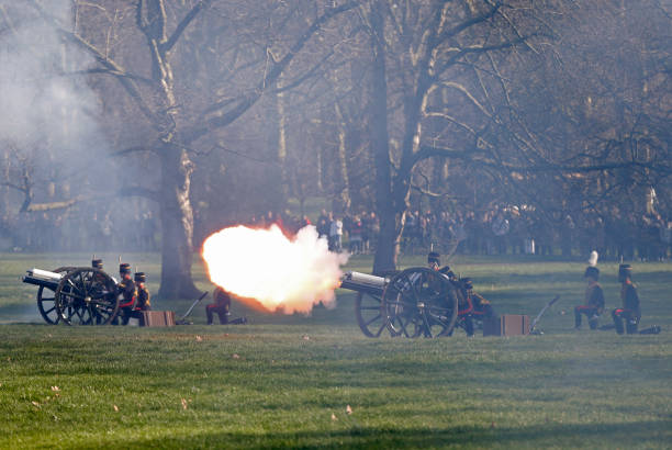 GBR: HM The Queen's Accession To The Throne Anniversary Gun Salute