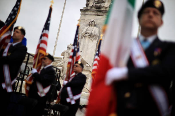 DC: Annual National Columbus Day Ceremony Held At Memorial In Washington, DC