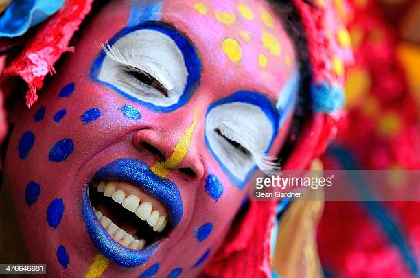 Members of the Krew of Mondo Kayo Social Marching Club parde Mardi Gras day in the rain on March 4 2014 in New Orleans Louisiana Fat Tuesday the...