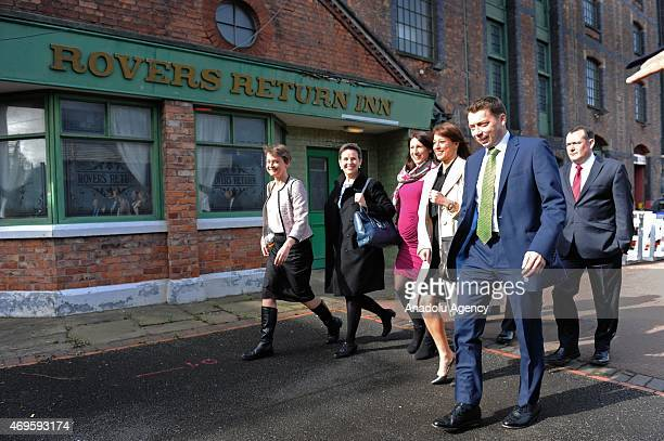 Members of the Labour Shadow Ministers arrive for the launch of The Labour Party 2015 Election Manifesto at the Old Granada Studios in Manchester...