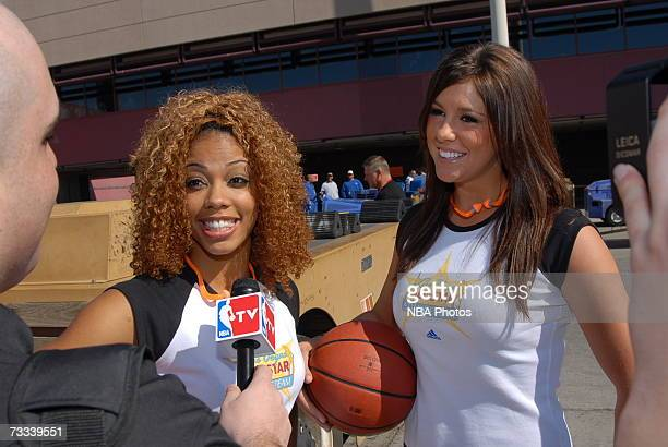 Members of the Las Vegas AllStar Dance team pose during the Trading Places Southwest Airlines Event on February 15 2007 at McCarran International...