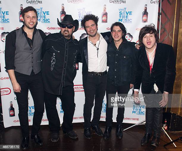 Members of The Last Bandoleros attend the Cherrytree Records 10th Anniversary at Webster Hall on March 9, 2015 in New York City.