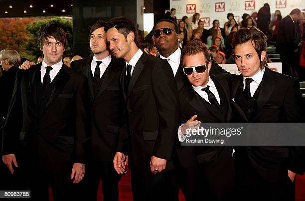 Members of The Last Goodnight arrive on the red carpet at the 50th Annual TV Week Logie Awards at the Crown Towers Hotel and Casino on May 4 2008 in...