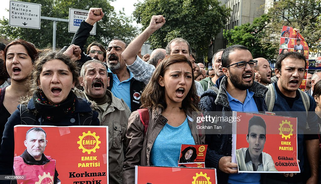 Turkey Mourns The Deceased And Injured Victims Of Ankara Peace Rally : News Photo