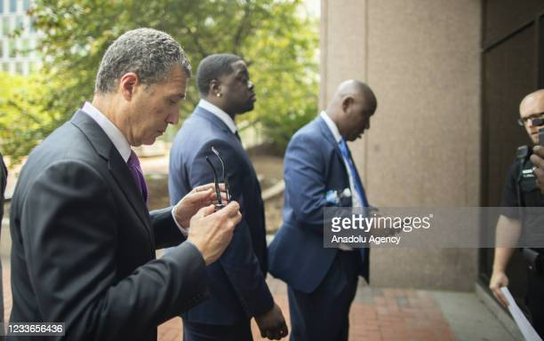 Members of the legal team and faily of George Floyd enter the Hennepin County Government Center before sentencing was announced for former officer...