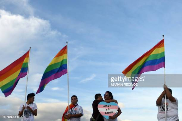 Members of the Lesbian Gay Bisexual Transgender Transvestite and Intersex communities hold the socalled Rose Prayer ceremony in honor of victims of...