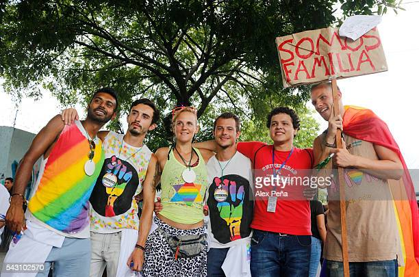 Members of the LGBT community march in support of the victims of the shooting of Pulse nightclub in Orlando on last June 12 on June 25 2016 in San...