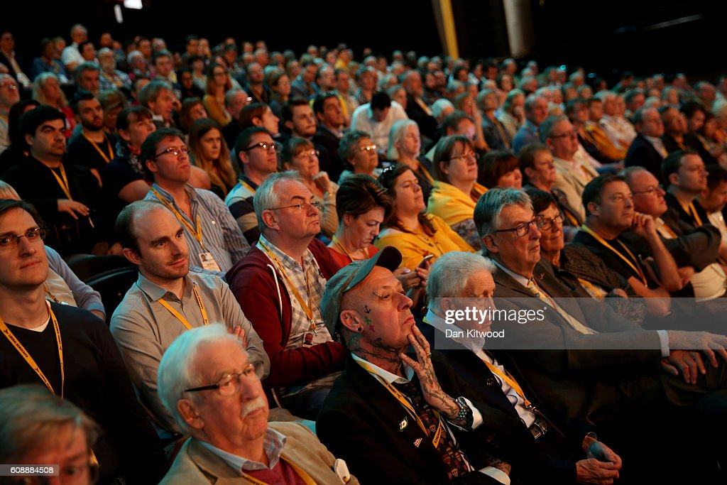 The Liberal Democrat Leader Addresses Party Conference : News Photo