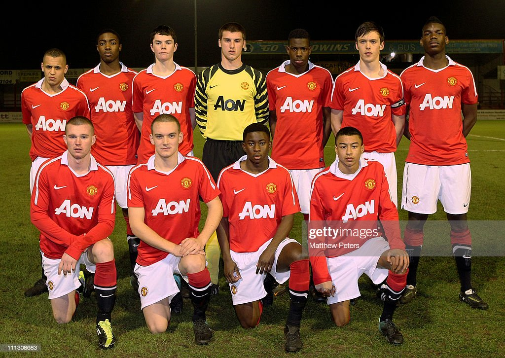 Manchester United v Newcastle United - FA Youth Cup 5th Round : News Photo
