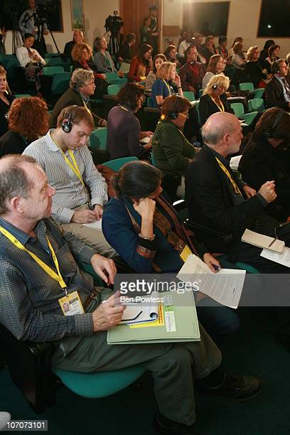 Members of the media, government and civil society attending a press conference from the organizers and participants of the People's Food Sovereignty...