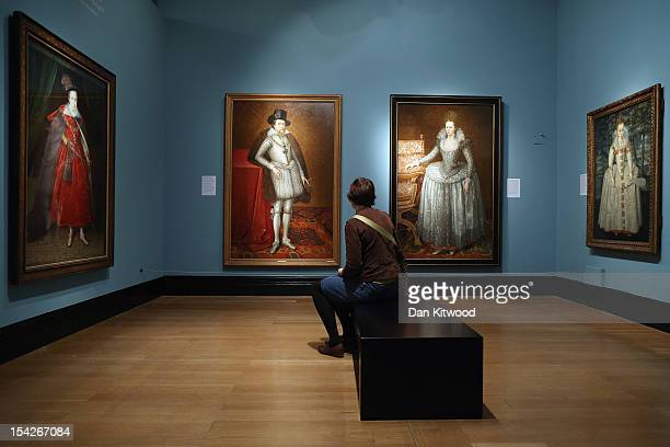 Members of the media look at works during a press preview for 'The Lost Prince' The Life and Death of Henry Stuart at the National Portrait Gallery...