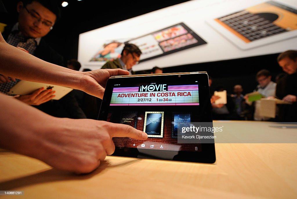 Apple Unveils Updated iPad In San Francisco : Nieuwsfoto's