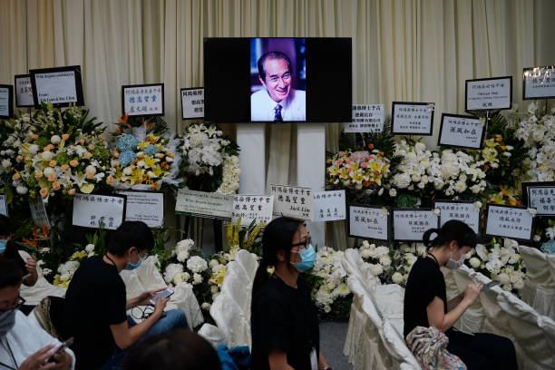 CHN: Casino Tycoon Stanley Ho's Funeral Takes Place in Hong Kong